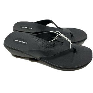 Okabashi Shoes - Okabashi Splash Flip Flops Sandals Black